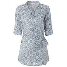 Buy White Stuff Linen Havanna Kaftan, Ocean Teal Online at johnlewis.com