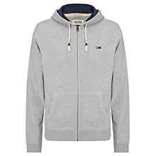 Buy Hilfiger Denim Vaco Full Zip Hoodie, Light Grey Heather Online at johnlewis.com