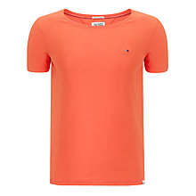 Buy Hilfiger Denim Sanson Wide Neck T-Shirt, Hot Coral Online at johnlewis.com