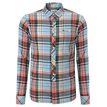 Buy Hilfiger Denim Auburn Check Cotton Shirt, Hot Coral Online at johnlewis.com
