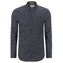 Buy Hilfiger Denim Alan Cotton Shirt, Graphite/Multi Online at johnlewis.com