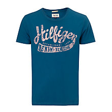 Buy Hilfiger Denim Federer Script Logo T-Shirt Online at johnlewis.com