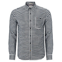 Buy Hilfiger Denim Aiden Long Sleeved Cotton Shirt, Blue Online at johnlewis.com