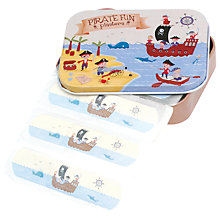 Buy Rex Pirates Fun Plasters in a Tin, Pack of 30 Online at johnlewis.com