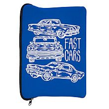 Buy Fast Cars Soft iPad Case, Blue Online at johnlewis.com