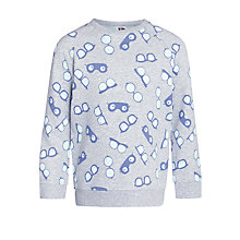 Buy Kin by John Lewis Glasses Sweater, Grey Marl Online at johnlewis.com