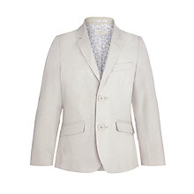 Buy John Lewis Heirloom Collection Boys' Linen-Blend Jacket, Beige Online at johnlewis.com