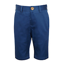 Buy John Lewis Heirloom Collection Boys' Sateen Shorts, Navy Online at johnlewis.com