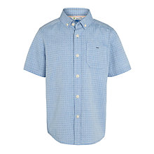 Buy John Lewis Boy Jacquard Short Sleeve Shirt, Blue Online at johnlewis.com