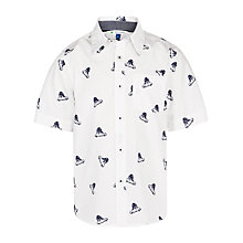 Buy John Lewis Boy Car Print Shirt, Cream Online at johnlewis.com