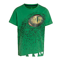 Buy John Lewis Boy Alligator Print T-Shirt, Green Online at johnlewis.com