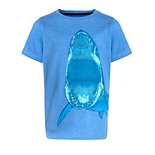 Buy John Lewis Boy Photographic Shark T-Shirt, Blue Online at johnlewis.com