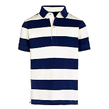 Buy John Lewis Boy Block Stripe Polo Shirt Online at johnlewis.com
