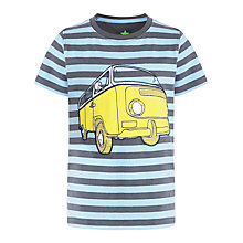 Buy John Lewis Boy Stripe Camper Van T-Shirt, Blue Online at johnlewis.com