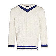 Buy John Lewis Boy Cricket Jumper, Cream Online at johnlewis.com