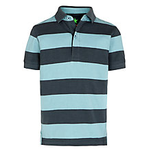 Buy John Lewis Boy Block Stripe Polo Shirt, Grey/Blue Online at johnlewis.com