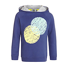 Buy Kin by John Lewis Boys' Circle Hoodie, Navy Online at johnlewis.com