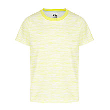 Buy Kin by John Lewis Boys' Cut Edge Raglan T-Shirt, Yellow/White Online at johnlewis.com