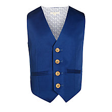 Buy John Lewis Heirloom Collection Boys' Sateen Waistcoat, Navy Online at johnlewis.com