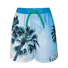 Buy John Lewis Boy Palm Print Board Shorts Online at johnlewis.com