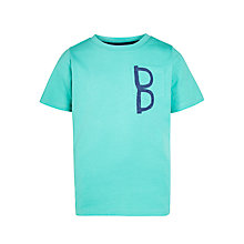 Buy Kin by John Lewis Boys' Glasses in Pocket Print T-Shirt, Turquoise Online at johnlewis.com