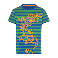 Buy John Lewis Boy Stripe Chameleon T-Shirt, Green/Blue Online at johnlewis.com