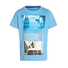 Buy John Lewis Boy LA Camper Van T-Shirt, Blue Melane Online at johnlewis.com