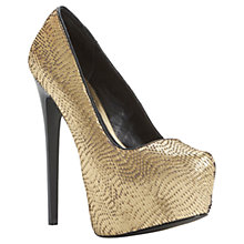 Buy Steve Madden Devona Ocassion Shoes, Metallics Online at johnlewis.com