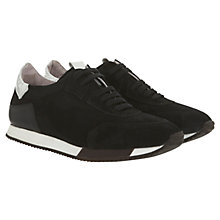 Buy Mint Velvet Tilly Suede Trainers, Black Online at johnlewis.com