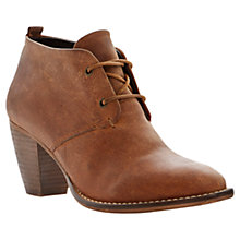 Buy Steve Madden Juddith Leather High Block Heel Shoe Boots Online at johnlewis.com