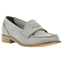 Buy Dune Leoh Leather Penny Loafers, Grey Online at johnlewis.com