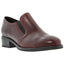 Buy Dune Lockton Slip-On Block Heel Leather Shoes Online at johnlewis.com