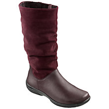 Buy Hotter Made in England Mystery Leather Boots, Plum Online at johnlewis.com