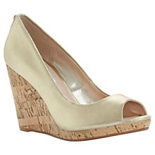 Buy Dune Celia Cork Wedge Peep Toe Court Shoes Online at johnlewis.com