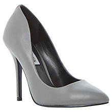 Buy Steve Madden Galleryy Leather Court Shoes, Grey Online at johnlewis.com