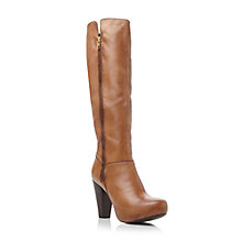 Buy Steve Madden Rikki Leather Knee High Heeled Boots Online at johnlewis.com