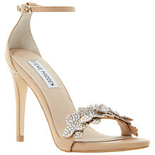 Buy Steve Madden Stecy-F SM Barely There High Heeled Sandals, Nude Embellished Online at johnlewis.com