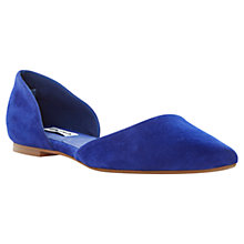 Buy Dune Cressida Suede Court Pumps, Blue Online at johnlewis.com