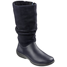 Buy Hotter Made in England Extra Wide Fit Mystery Leather Boots, Black Online at johnlewis.com