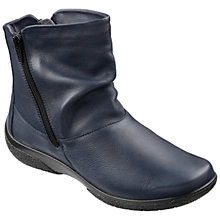Buy Hotter Made in England Extra Wide Fit Whisper Ankle Boots, Navy Online at johnlewis.com