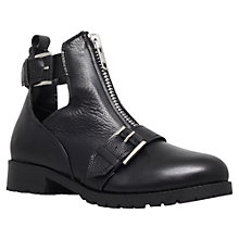 Buy Miss KG Scout Leather Buckle and Front Zip Detail Low Heel Ankle Boots Online at johnlewis.com