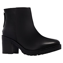 Buy KG by Kurt Geiger Spark Leather Block Heeled Ankle Boots, Black Online at johnlewis.com
