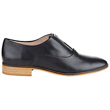 Buy NW3 by Hobbs Frankie Derby Leather Shoes, Black Online at johnlewis.com
