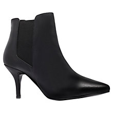 Buy KG by Kurt Geiger Scamp Leather Mid Stiletto Heel Ankle Boots Online at johnlewis.com