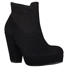 Buy KG by Kurt Geiger Spice Suede Platform High Cone Heel Ankle Boots Online at johnlewis.com