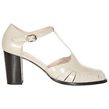 Buy NW3 by Hobbs Cerys Leather Shoes, Cream Online at johnlewis.com