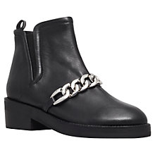Buy KG by Kurt Geiger Salvation Leather Plait Detail Platform Mid Heel Ankle Boots Online at johnlewis.com