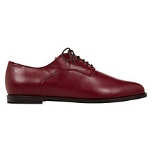 Buy Hobbs Astrid Derby Lace Up Shoes, Leather Oxblood Red Online at johnlewis.com