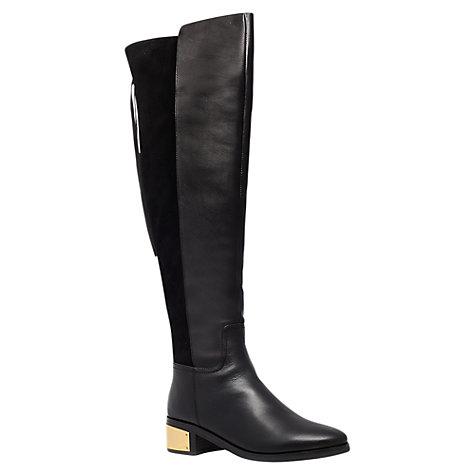 buy kg by kurt geiger wizard leather mid block heel knee
