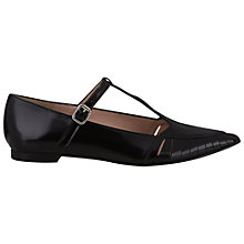 Buy NW3 by Hobbs Elena Leather Shoes, Black Online at johnlewis.com